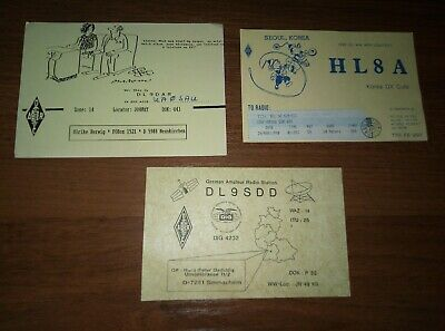 $ CDN11.41 • Buy Lot 3 Pcs Vintage QSL RADIO Cards From Personal Collection Free Shipping