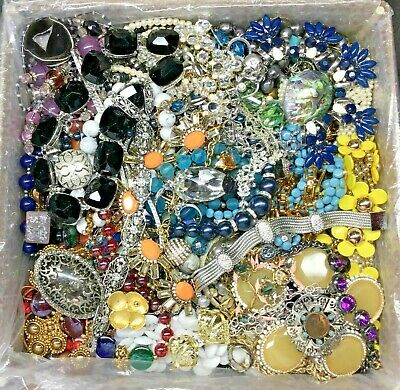 $ CDN18.30 • Buy Unsearched Jewelry Vintage Now Lot Wear Junk Craft Box 3 Pounds Necklace Broach