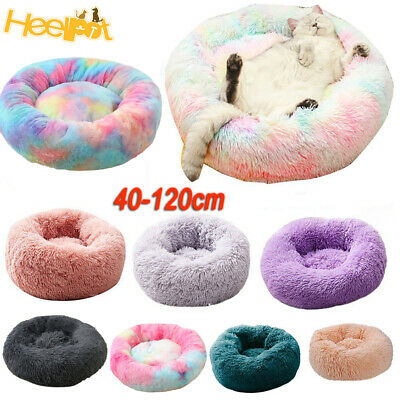 AU18.59 • Buy Pet Dog Cat Calming Bed Warm Soft Plush Round Nest Comfy Sleeping Kennel Cave