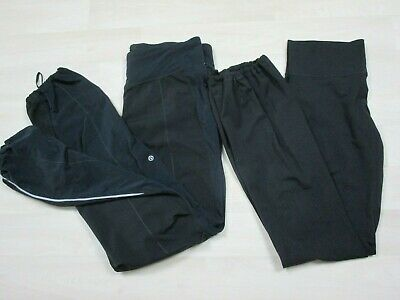 $ CDN29.81 • Buy Lululemon Lot (2) Size 12 Black Cuffed Joggers Workout Yoga Womens Athletic