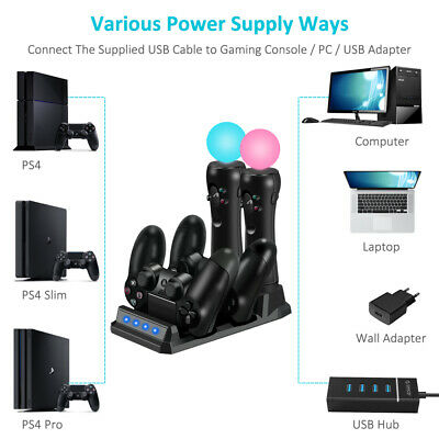 AU19.98 • Buy For Playstation 4 PS4 Controller Charger Dock Dual Stand Charging Station Pad AU