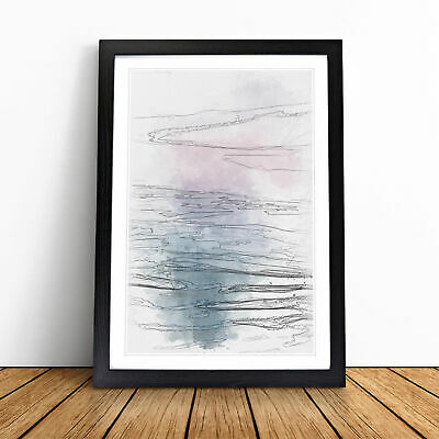 Lake Garda Italy Sketch Wall Art Framed Print Home Decor Picture • 11.95£