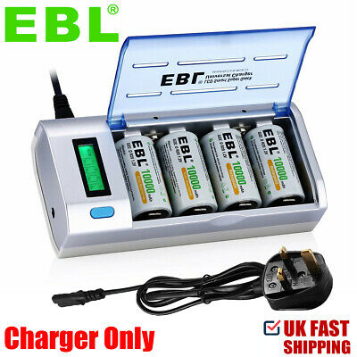 £15.29 • Buy EBL LCD Smart Battery Charger For AA/AAA/C/D/NiMH/NiCD/9V Rechargeable Batteries