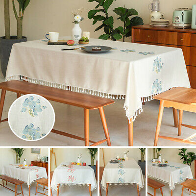 AU30.27 • Buy Table Cloth For Kitchen Decor Dining Table Cover 2 Colors Rectangular Tablecloth