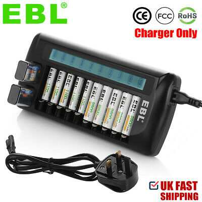 £19.99 • Buy EBL 12 Slots LCD Intelligent Battery Charger For AA AAA NI-MH NI-CD 9V Batteries