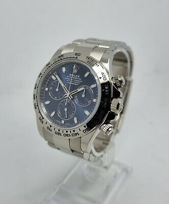 $ CDN61620.76 • Buy Rolex 116509 Daytona 18K White Gold Blue Dial Watch B&Ps 2018