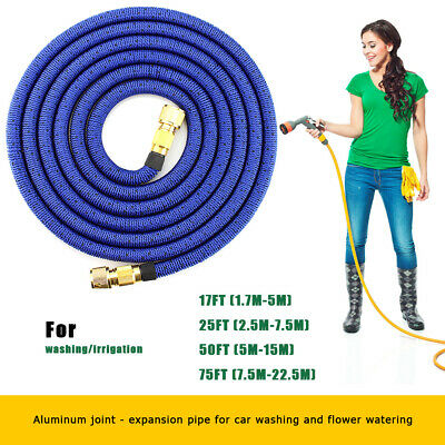 100FT Garden Watering Hose Expandable Wash Telescopic Magic Hose Pipe Flexible • 10.39£