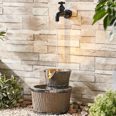 £44.99 • Buy Serenity Garden 47cm Floating Tap Water Feature LED Outdoor Fountain Decor NEW