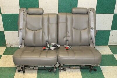 $499.99 • Buy 03-06 GM SUV Gray Leather LH RH Rear Third 3rd Row Removable Seats Pair 2x OEM