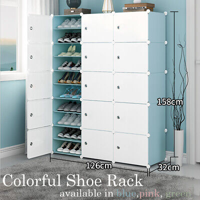 AU45.99 • Buy Colorful Cube DIY Shoe Cabinet Rack Storage Portable Stackable Organiser Stand