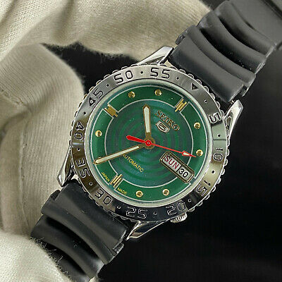 $ CDN13.24 • Buy Vintage Seiko 5 Automatic 17 Jewels Cal.6309A Day Date Men's Sports Look Watch