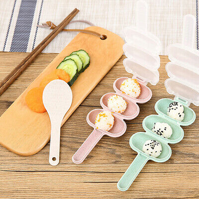 Rice Ball Mold Children DIY Mould Home With Spoon Sushi Maker Kitchen Portable • 4.82£