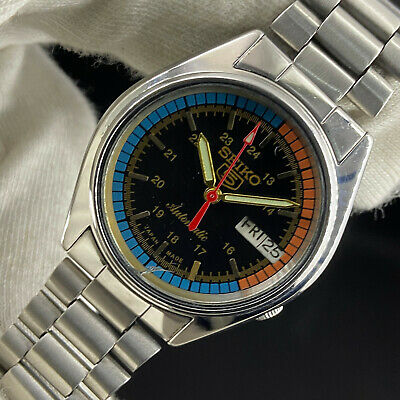 $ CDN15.76 • Buy Vintage Seiko 5 Automatic 21 Jewels Cal.7S26A Day Date Men's Wrist Watch