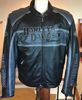 $ CDN444.05 • Buy HARLEY DAVIDSON Men's 2XL Armored Cruiser B&S Leather Jacket In Great Condition