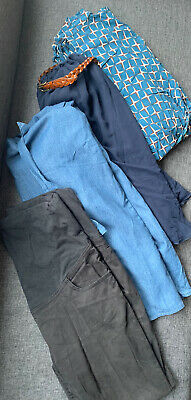 Maternity Dress And Trousers Bundle Jojo Mamam Bebe And Asos Size 10 And 12 • 7.50£