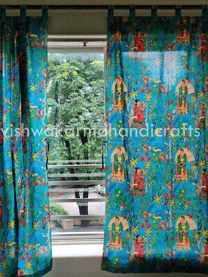 Tab Top Frida Kahlo Curtains Cotton Hippie Tapestry Decor Window Curtains Set  • 29.99£
