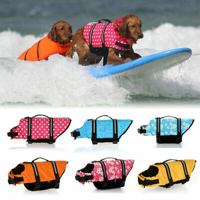 Pet Dog Life Jacket Swimming Float Vest Reflective Buoyancy Sailing Aid XS-XL~ • 10.99£