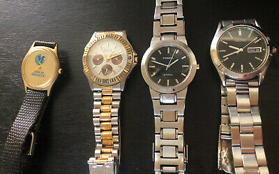 $ CDN12.66 • Buy Fossil , Seiko, Elgin And No Brand , Lot Of 4 Used Watches