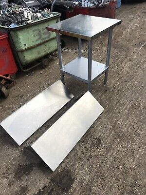 Small Stainless Top Prep Table At Two Shelves • 125£
