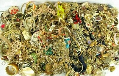 $ CDN23.97 • Buy Unsearched Jewelry Vintage Modern Huge Lot Junk Craft Box 3 Lbs POUND Piece Part