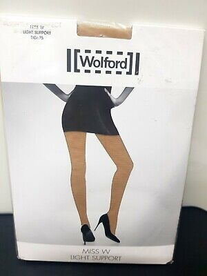 Wolford Miss W Light Support Luxury Womens Tights In Oyster XXL Uk 20-22 Nwt • 12.99£
