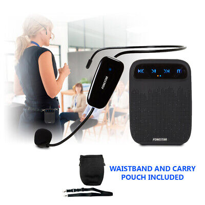 UHF Wireless Headset Microphone Speaker Amplifier PA MP3 Recorder Player 60-CH • 57£