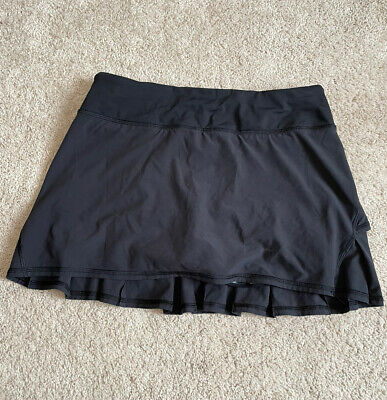 $ CDN57.08 • Buy Lululemon Pace Setter Skirt Skort Size 10 Solid Black Yoga Run