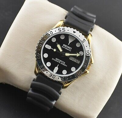 $ CDN62.45 • Buy Vintage Seiko 5 Automatic Sports 23 Jewels Gold Plated Day Date Men's Watch
