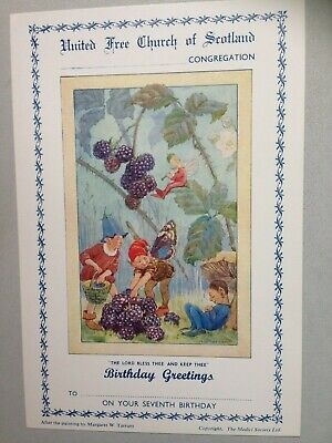 Vintage Margaret Tarrant Church Seventh Birthday Card Mint Condition • 2£