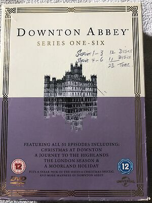 Downton Abbey - The Complete Series 1 - 6 (23 Disc Dvd Set) New Sealed. • 4.20£