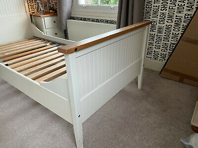 Ikea Single Bed With Replacement Mattress,duvet Complete With All Pillows, Linen • 20£