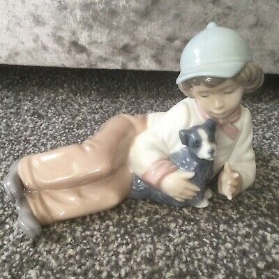 "NAO / LLADRO - ""MY PAL"" - BOY WITH DOG - 1149 Perfect Retired 1998 • 23£"