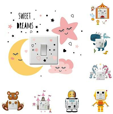 £1.99 • Buy Light Switch Sticker Surround Vinyl Decal Child Kids Room Lightswitch Cover Wall