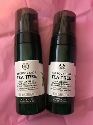 £10.50 • Buy The Body Shop Tea Tree Foaming Cleanser Face Wash 150ml X2