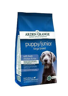 £17.95 • Buy Arden Grange Large Breed Puppy Chicken Hypoallergenic Dog Food 6kg *OUT OF DATE*