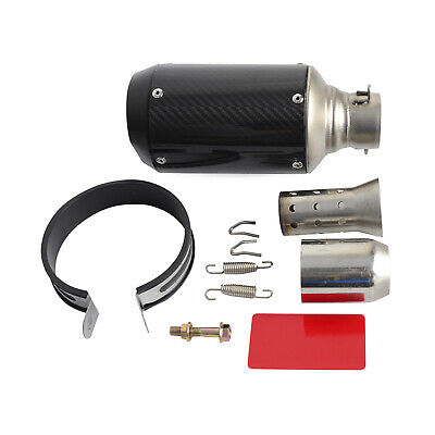 $65.99 • Buy 51mm Slip On Universal Motorcycle Exhaust Muffler Pipe With Removable DB Killer