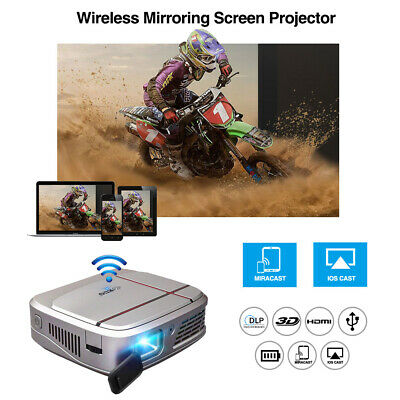 3300lms Wifi Pico Size 3D DLP Projector 1080p Airplay For IPhone Movie Party UK • 241.99£