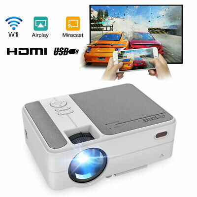 Full HD Portable Projector WiFi Wireless Mirror Screen Cinema Airplay For IPhone • 174.99£