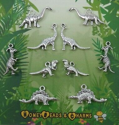 £2.45 • Buy ❤ (NEW) Mixed Dinosaur 3D Charms ❤ Pack Of 10 ❤ CRAFTING/JEWELLERY ❤