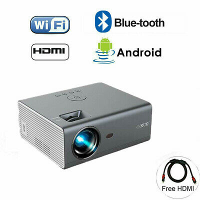 4000lm Portable Android WiFi Smart Projector Blue Tooth Airplay For IPhone TV UK • 248.99£