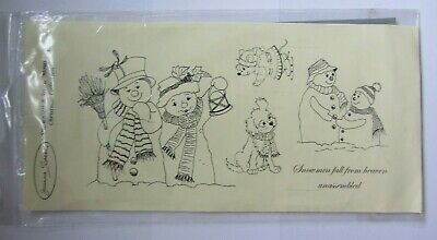 £6 • Buy Joanna Sheen-Snowmen & Snow Mouse Christmas Collection-Stamp-Unmounted-New