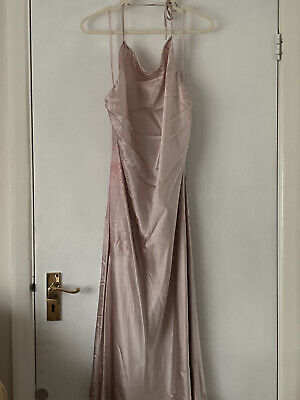 Debenhams John Rocha Size 16 Pink Silk Halter Dress BNWT • 14.99£