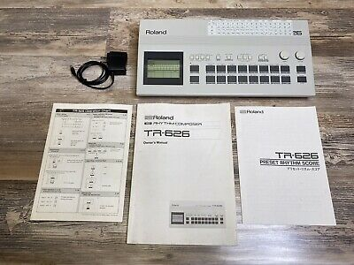 AU642.59 • Buy Roland TR-626 Drum Machine Classic Fully Functional Spotless Cond W/Manuals