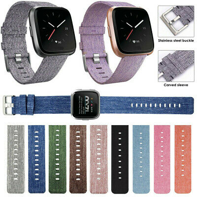 $ CDN8.81 • Buy Replacement Woven Canvas Nylon Watch Band Strap Wristband For Fitbit Versa Mu
