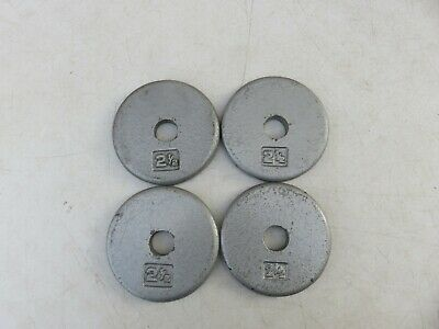 $ CDN34.67 • Buy 4x 2 1/2lb 2.5lb Weight Plates Pancake Style ?? Weights Standard Size 1  Used
