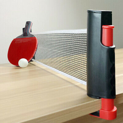 Black Games Retractable Table Tennis Ping Pong Portable Net Kit Replacement Sets • 8.98£