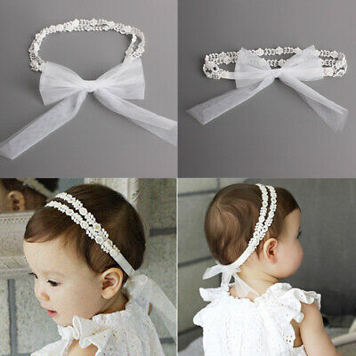 $ CDN5.15 • Buy Lace Accessories Girls Newborn Kids Baby Infant Toddler Bow Headband Hair Band