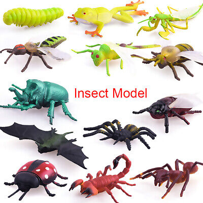 £5.13 • Buy 12pcs Plastic Realistic Insect Model Figure Toys Pack For Kids Assorted Bugs UK