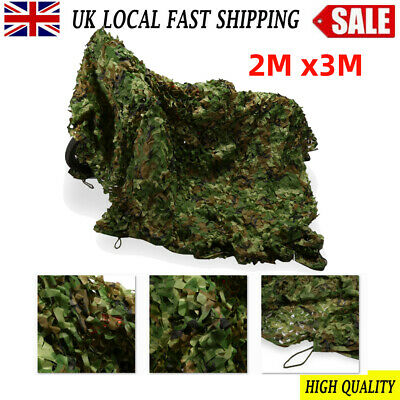 £10.42 • Buy NEW Camo Net Camouflage Netting Hunting / Shooting Hide Army Woodland 2M X3M
