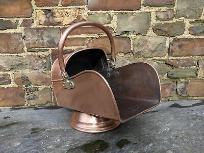 Heavy Vintage Copper Coal Scuttle • 147£